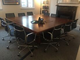 Square design bespoke Boardroom Table