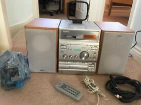hi fi with surround sound speakers remote control and everything else buy this weekend it's £30