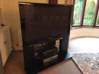 "Panasonic Viera TH-46PZ81B 46"" 1080p Plasma Television With Original Panasonic Cabinet TV Stand"