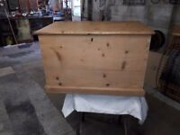 North Eastern Railway Pine Tool box, stripped and restored