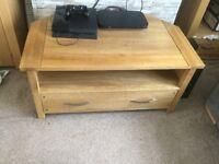 Oak tv stand from oak furniture land...vgc