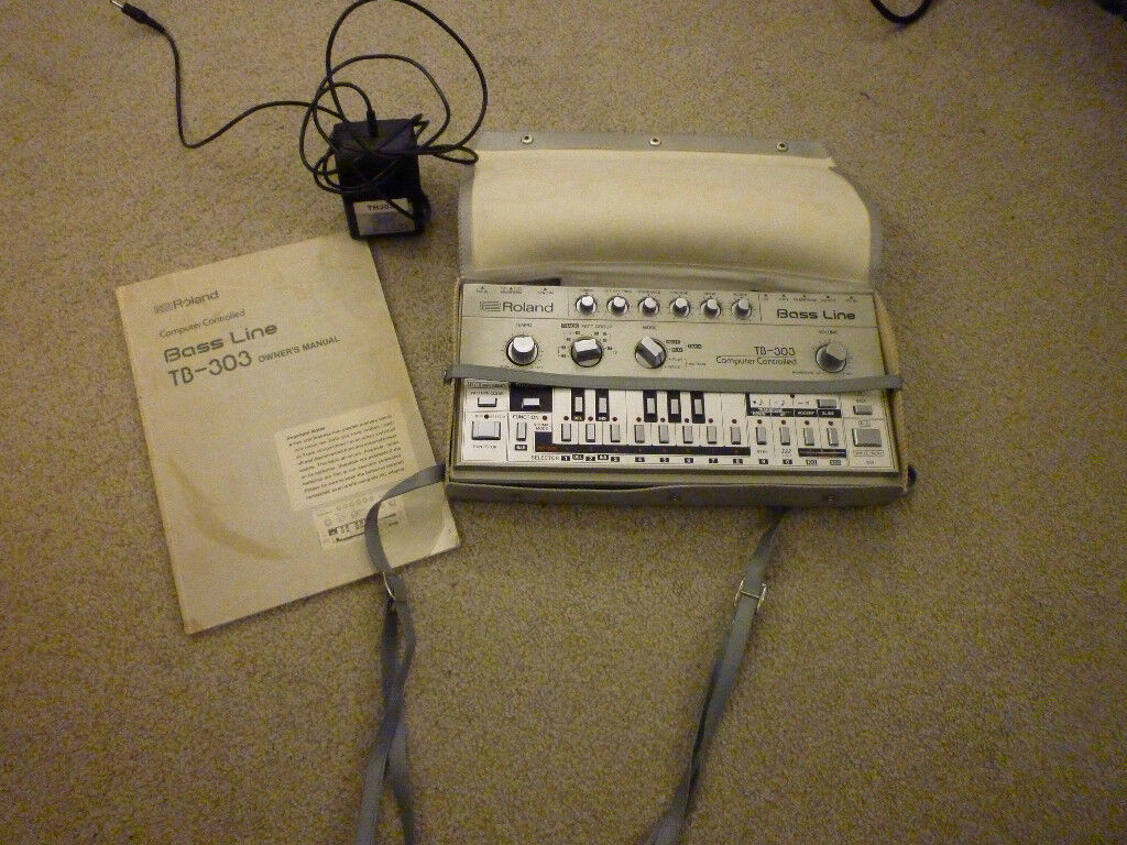 roland tb303 bassline synthesizer and manual and power supply case cv gate  filter mod | in Bournemouth, Dorset | Gumtree