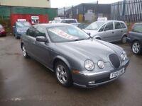 Jaguar S-TYPE V6 SE Auto,2967 cc 4 door saloon,Full MOT,full leather interior,runs and drives well,
