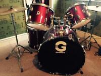 Red Guvnor drum kit