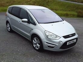 Roomy 7 Seater: 2012 Ford S-Max Titanium 2.2 TDCi, FSH, 6 Speed, Bluetooth, Climate, Cruise, Alloys