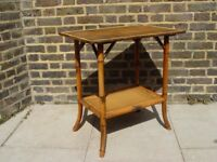 FREE DELIVERY Antique Victorian Bamboo Side Table Retro Vintage Mid Century Furniture
