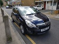 Vauxhall corsa 2011 Excite 1.2 Ltr Black, Low mileage, HPI Clear, Road Tax expires July 2019