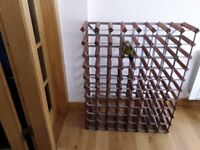 Traditional Wooden Wine Rack - For Sale