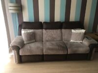 Large dfs electric reclining sofa