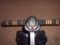 rower,adjustable sit,calorie counting,lsd display,great condition.
