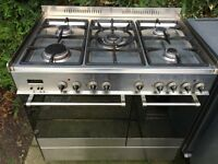 Delonghi gas hob and twin electric oven