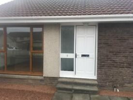 Detached two bedroomed bungalow with single garage and driveway PETERHEAD