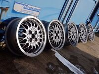 "15"" BBS RA 4X100PCD VW MK2 GTI ALLOY WHEELS RARE SET OF 5 GENUINE VW STAMPED WHEELS RS RM OZ G60"