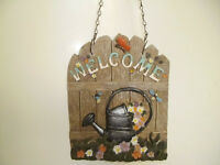 GARDEN 'WELCOME' HANGING SIGN,PERFECT FOR GARDEN SHED