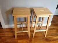 Two IKEA Bosse bar stools