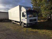 MAN TGL 180 7.5 ton box truck