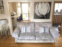 LAURA ASHLEY SOFA , ARMCHAIR and FOOTSTOOL