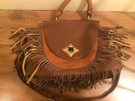 Brown fringed bag - NEW