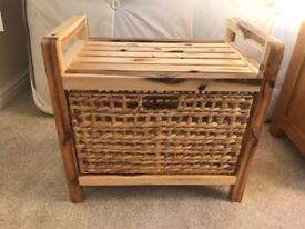 Wooden basket drawer