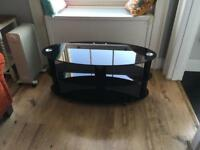 Black Glass TV Stand - Very Good Condition
