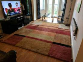 Handmade Indian rug - 10ft x 8ft - Beautiful condition