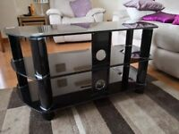 Black Glass ex John Lewis large TV stand £20