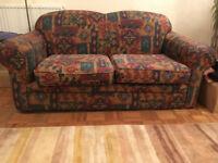 Sofa - Aztec-style coloured sofa