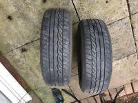 185 60 15 dunlop sp sport 2x tyres 4mm
