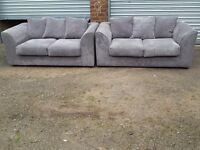 Very nice Brand New grey cord sofa suite.pair of 2 seater sofas.can deliver