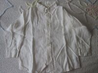 New linen white shirt, age 6, 116 cm height