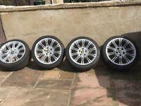 "18 inch 18"" Genuine BMW M Sport Mv2 Alloy rims Wheels 225/40/18 Tyres"