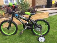Ben 10 children's bike with stabilisers