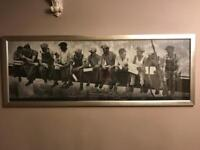 Large steel workers picture