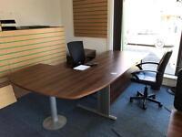 Desk and pedestal drawers