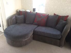 2 x sofas and 1 x footstool/extra seat