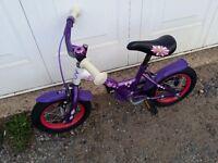 Girl child bike