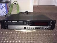 TASCAM CD-RW900SL Professional 2U Rack Mount CD Player, CD Recorder, Rewriter, With Leads And Remote