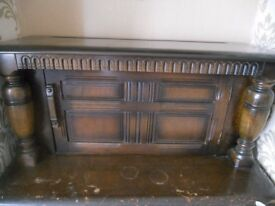 oak priory sideboard buffet top cupboard