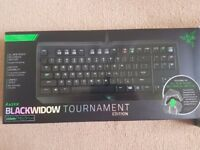 brand new sealed RAZER black widow tournament mechanical keyboard sealed & type gaming mouse bundle