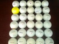 30 Titleist Used Golf Balls all in very good condition some with felt pen marks see photos.