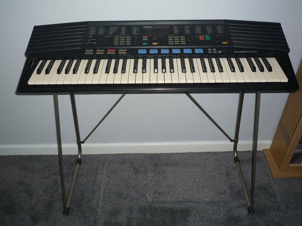 Yamaha psr 47 retro keyboard with stand and mains adaptor for Yamaha psr stand