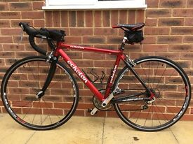 Road bike with professionally fitted tri-bars