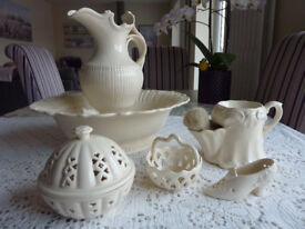 Creamware Jug and Bowl and other items good condition
