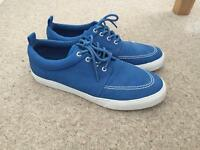 ASOS Men's blue casual shoes trainers 8.5