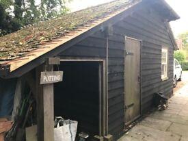OAK FRAMED DOUBLE GARAGE FOR BREAK AND REBUILD