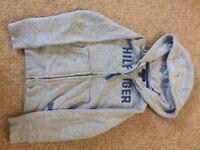 Boys Tommy Hilfiger grey hooded top
