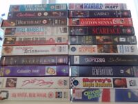 Selection of 20 x original title VHS video tapes