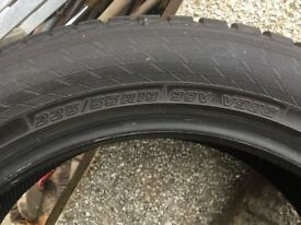 4 x ALMOST NEW WINTER TYRES :- 225/55R19 99V . GET A GRIP ON THE ROADS THIS WINTER