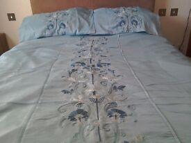 King size pale blue duvet cover. Original price paid £50