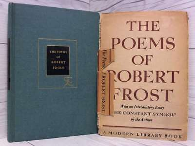 The Poems of Robert Frost, (The Modern library of the world's best books,